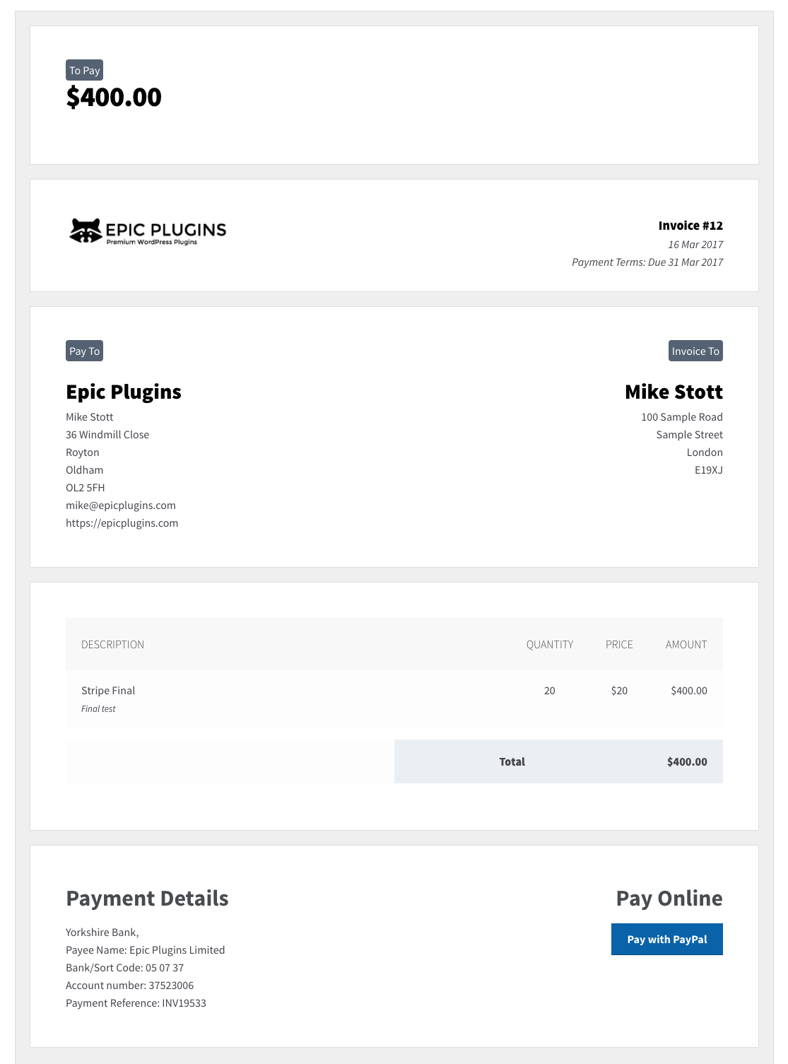 Invoicing PRO Zero BS CRM - How to send an invoice for freelance work