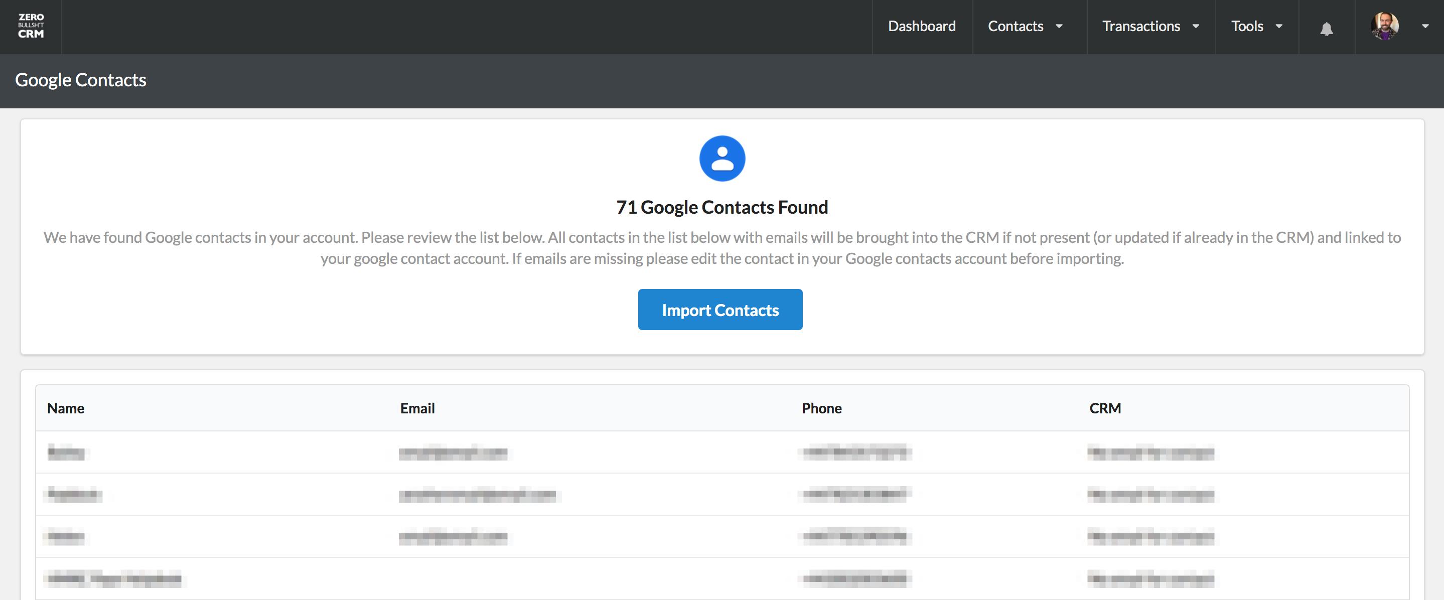 Google Contacts Sync | Zero BS CRM