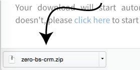 Downloading CRM File
