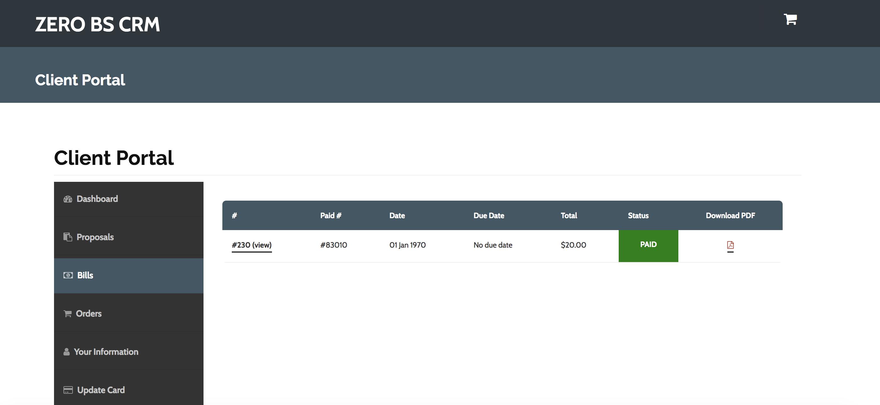 Client Portal Pro | Zero BS CRM