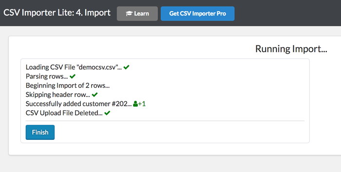 Import small or large CSV Files into ZBS CRM on WP