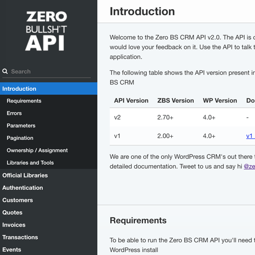 Zero BS CRM Features: Developer Ready