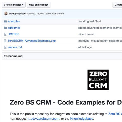 Zero BS CRM on Github for Developer Access